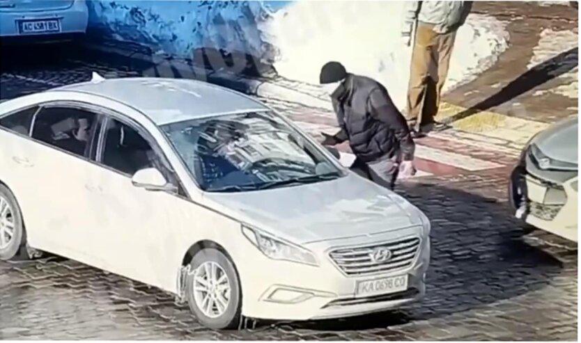 Убийство пешехода в Киеве засняла камера